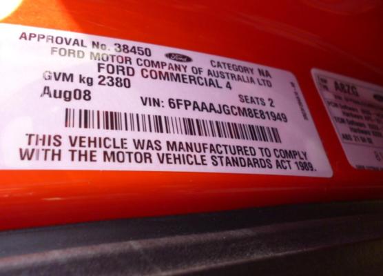 2008 FORD FALCON FG CONTROL ARM LOWER RF