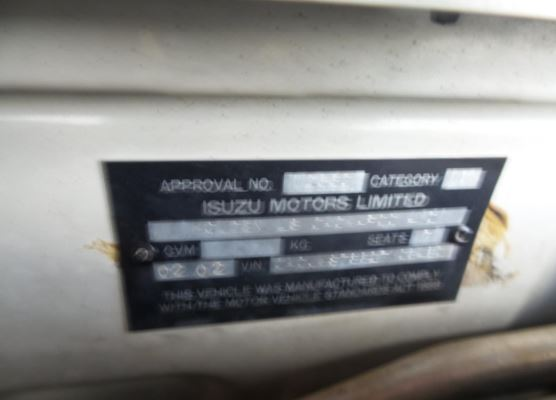 2002 HOLDEN JACKAROO U8 AIR BOX UNIT