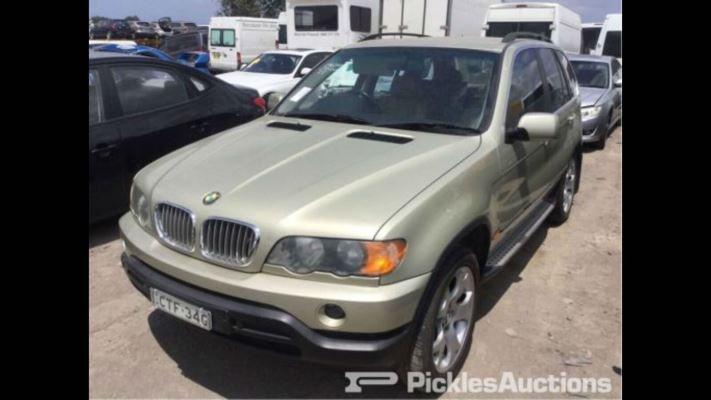 2002 BMW X5 E53 4.4i 5 SP AUTOMATIC STEPTRONIC 4.4L MULTI POINT F/INJ DOOR LR