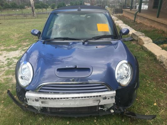 2005 MINI COOPER R52 S CABRIO CVT AUTO 6 SP SEQUENTIAL 1.6L SUPERCHARGED MPFI BONNET