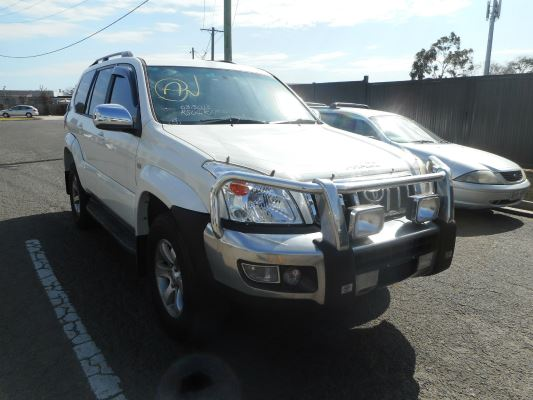 2005 TOYOTA LANDCRUISER GRJ120R PRADO GRANDE (4x4) 5 SP AUTOMATIC 4.0L MULTI POINT F/INJ SEAT BELT LF