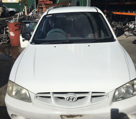 2001 HYUNDAI ACCENT LC 4 SP AUTOMATIC 1.5L MULTI POINT F/INJ TAILGATE