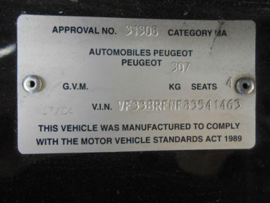 2005 PEUGEOT 307 DOOR MIRROR LF