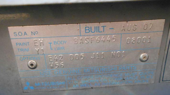 2007 MITSUBISHI 380 DB SERIES III PLATINUM EDITION 5 SP AUTO SPORTS MODE 3.8L MULTI POINT F/INJ CRUISE CONTROL SWITCH