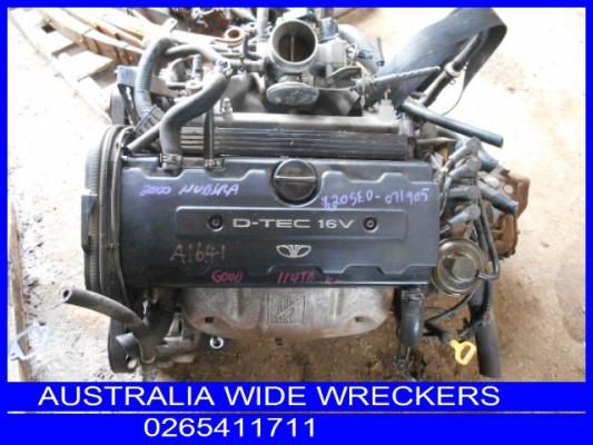 2000 DAEWOO NUBIRA SERIES II 5 SP MANUAL 2.0L MULTI POINT F/INJ ENGINE LONG