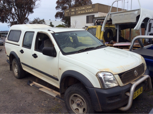 2004 HOLDEN RODEO RA LX 5 SP MANUAL 3.5L MULTI POINT F/INJ ENGINE LONG