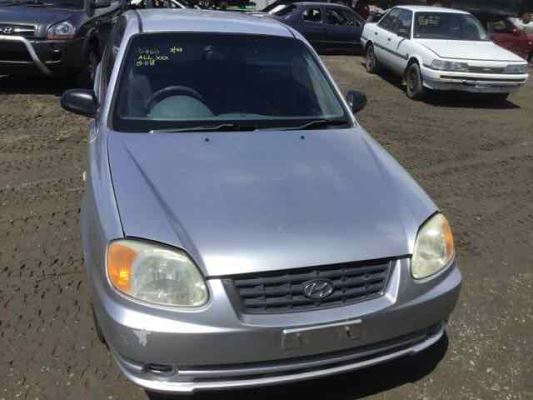 2003 HYUNDAI ACCENT LC GL 4 SP AUTOMATIC 1.5L MULTI POINT F/INJ BRAKE BOOSTER