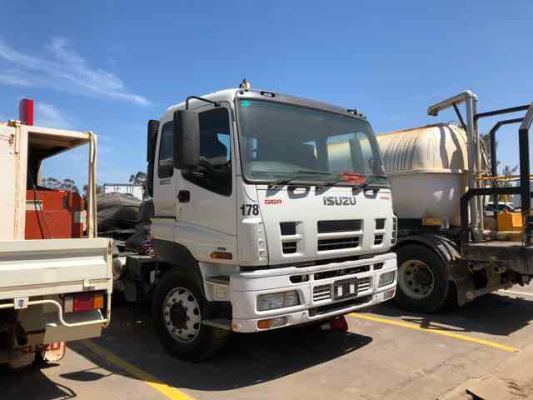 2009 ISUZU GIGA CH CXY 455 SHORT 12 SP AUTOMATED MANU 15.7 DIESEL TURBO F/INJ TAILSHAFT CENTRE