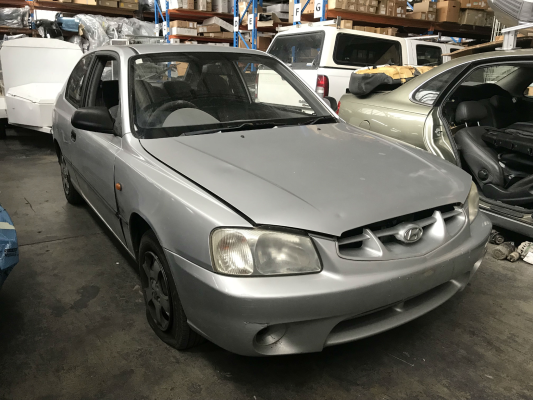 2002 HYUNDAI ACCENT LC GL 5 SP MANUAL 1.5L MULTI POINT F/INJ TAILGATE