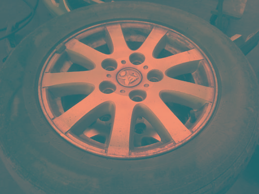 2002 HOLDEN COMMODORE VXII EXECUTIVE 4 SP AUTOMATIC 3.8L MULTI POINT F/INJ WHEEL (ALLOY/MAG) SET