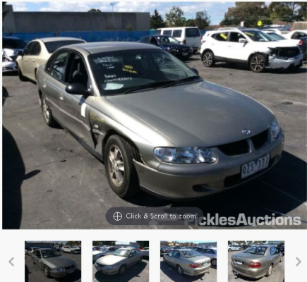 2001 HOLDEN COMMODORE VX EQUIPE 4 SP AUTOMATIC 3.8L MULTI POINT F/INJ ENGINE LONG