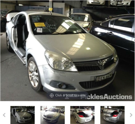 2008 HOLDEN ASTRA AH MY08 TWIN TOP 4 SP AUTOMATIC 2.2L MULTI POINT F/INJ TRANSMISSION/GEARBOX