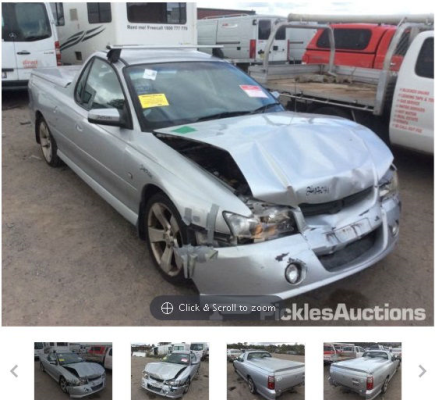 2006 HOLDEN COMMODORE VZ MY06 S THUNDER 4 SP AUTOMATIC 3.6L MULTI POINT F/INJ BAR REAR COMPLETE