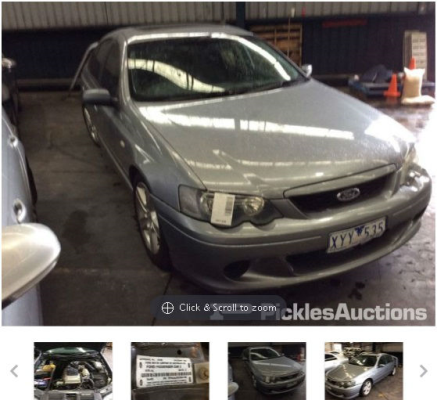 2003 FORD FALCON BA XR6 4 SP AUTO SEQ SPORTSHIFT 4.0L MULTI POINT F/INJ TRANSMISSION/GEARBOX