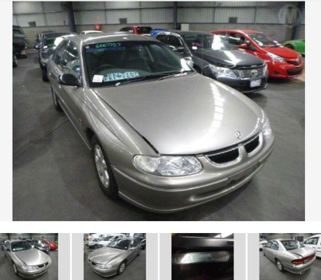 1999 HOLDEN BERLINA VT 4 SP AUTOMATIC 3.8L MULTI POINT F/INJ TRANSMISSION/GEARBOX