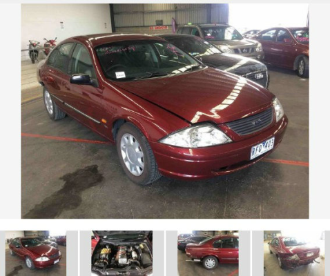 2001 FORD FALCON AUII FORTE 4 SP AUTOMATIC 4.0L MULTI POINT F/INJ TRANSMISSION/GEARBOX
