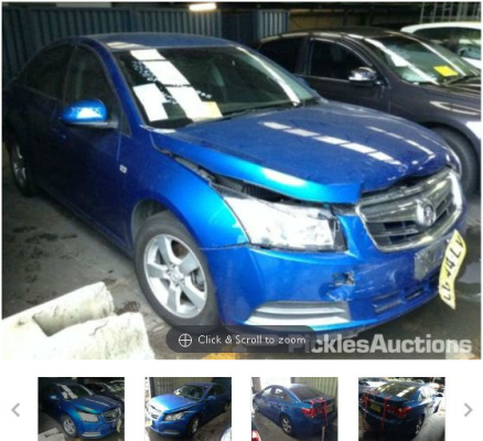 2010 HOLDEN CRUZE JG 5 SP MANUAL 1.8L MULTI POINT F/INJ