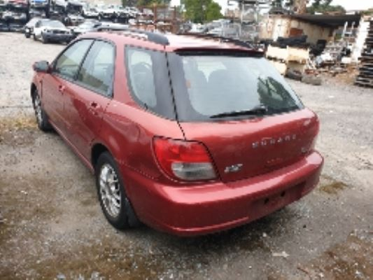 2003 SUBARU IMPREZA 5 SP MANUAL 2.0L MULTI POINT F/INJ DIFF COMPLETE REAR