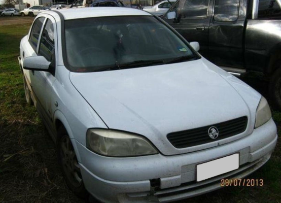 2001 HOLDEN ASTRA TS EQUIPE 5 SP MANUAL 1.8L MULTI POINT F/INJ AIR BOX TUBING