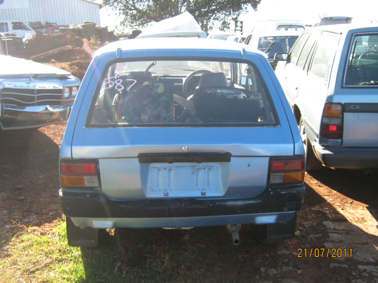1983 SUZUKI HATCH 4 SP MANUAL 0.5L CARB TAILGATE