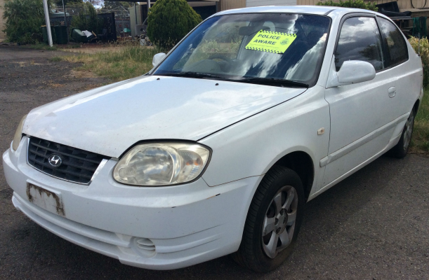 2005 HYUNDAI ACCENT LS 1.6 5 SP MANUAL 1.6L MULTI POINT F/INJ WIPER ARM REAR