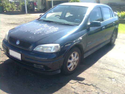 2002 HOLDEN ASTRA TS EQUIPE 5 SP MANUAL 1.8L MULTI POINT F/INJ AIR CONDENSER