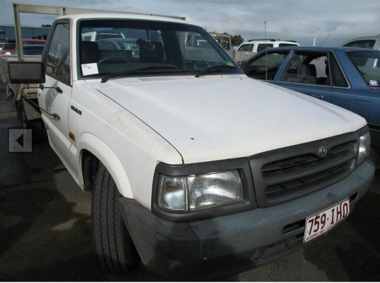 1997 MAZDA B2600 BRAVO 5 SP MANUAL 2.6L ELECTRONIC F/INJ BONNET