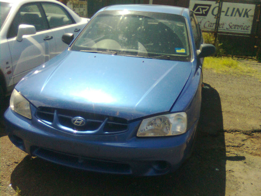 2001 HYUNDAI ACCENT LC 5 SP MANUAL 1.5L MULTI POINT F/INJ TAILGATE