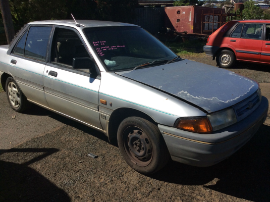 1991 FORD LASER KF GHIA 5 SP MANUAL 1.8L ELECTRONIC F/INJ BONNET