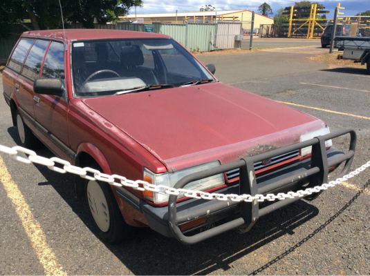 1992 SUBARU DL (4WD) 5 SP MANUAL 1.8L CARB BONNET HINGE LEFT
