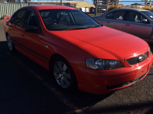 2005 FORD FALCON BA MKII XR6 4 SP AUTO SEQ SPORTSHIFT 4.0L MULTI POINT F/INJ DOOR CHECK STRAP LF