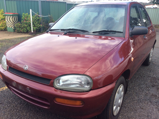 1996 MAZDA 121 DB Series 5 SP MANUAL 1.3L SINGLE POINT F/INJ TRANSMISSION/GEARBOX