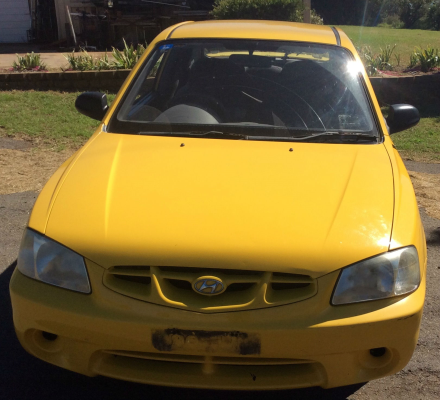 2000 HYUNDAI ACCENT LC 5 SP MANUAL 1.5L MULTI POINT F/INJ TRANSMISSION/GEARBOX