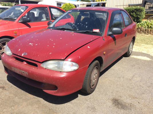 1996 HYUNDAI EXCEL X3 SPRINT 5 SP MANUAL 1.5L MULTI POINT F/INJ DRIVESHAFT LF