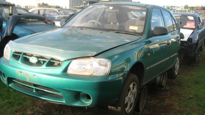 2000 HYUNDAI ACCENT LC 4 SP AUTOMATIC 1.5L MULTI POINT F/INJ BAR REINFORCE FRONT