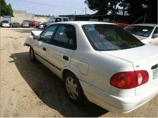 2000 TOYOTA COROLLA AE112R 5 SP MANUAL 1.8L MULTI POINT F/INJ WASHER TANK & MOTOR FRONT