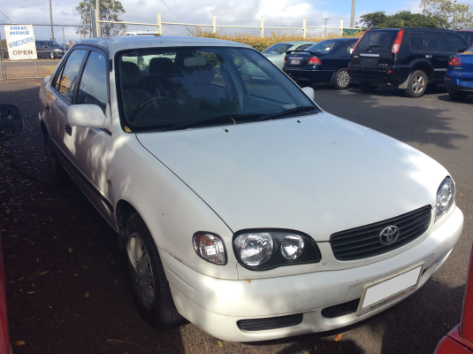 2000 TOYOTA COROLLA AE112R ASCENT 4 SP AUTOMATIC 1.8L MULTI POINT F/INJ WASHER TANK & MOTOR FRONT