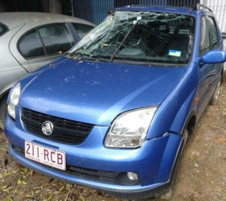 2003 HOLDEN CRUZE YG 5 SP MANUAL 1.5L MULTI POINT F/INJ DOOR GLASS LF