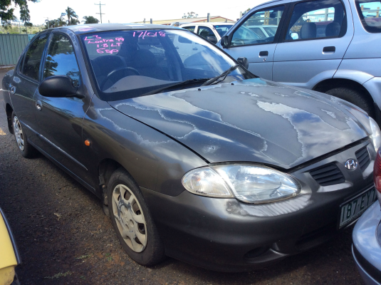 2000 HYUNDAI LANTRA J3 SE 5 SP MANUAL 1.8L MULTI POINT F/INJ STEERING WHEEL