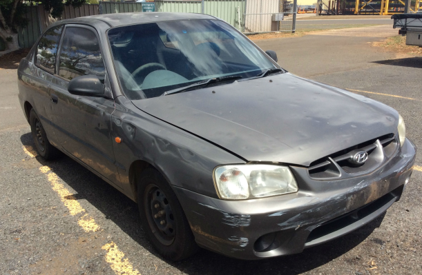 2001 HYUNDAI ACCENT LC 5 SP MANUAL 1.5L MULTI POINT F/INJ WASHER TANK & MOTOR FRONT