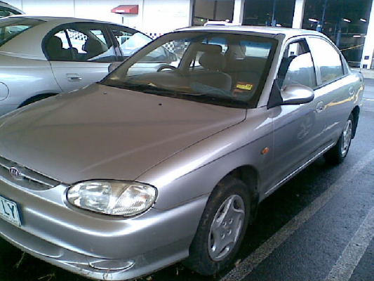 2000 KIA MENTOR 5 SP MANUAL 1.5L MULTI POINT F/INJ BONNET