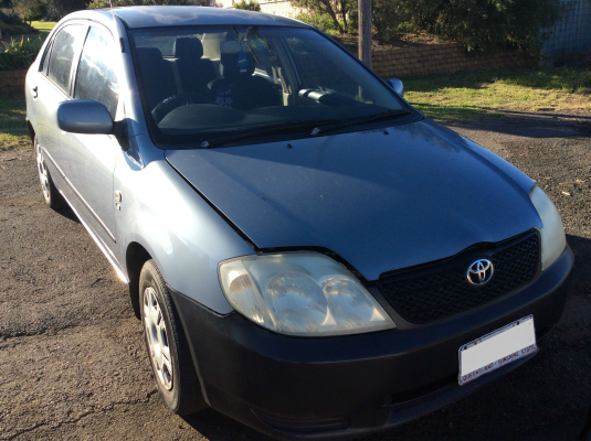 2003 TOYOTA COROLLA ZZE122R ASCENT 5 SP MANUAL 1.8L MULTI POINT F/INJ WIPER MOTOR FRONT