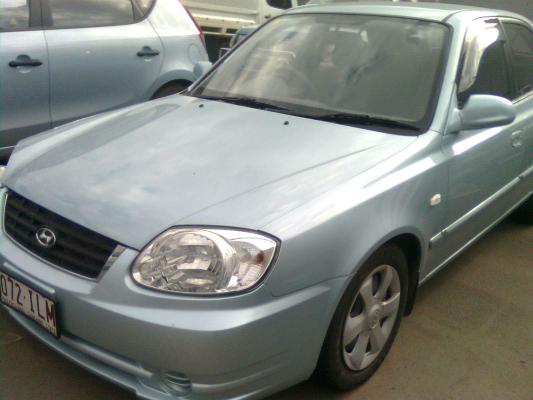 2004 HYUNDAI ACCENT LS 1.6 4 SP AUTOMATIC 1.6L MULTI POINT F/INJ DOOR RR
