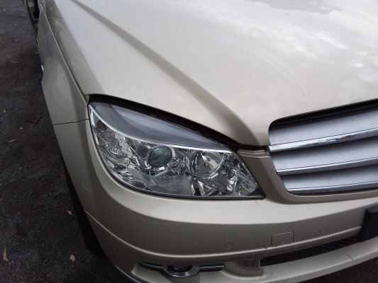 2009 MERCEDES-BENZ C200 W204 5 SP AUTOMATIC TIPSHIFT 1.8L SUPERCHARGED MPFI HEADLIGHT RIGHT