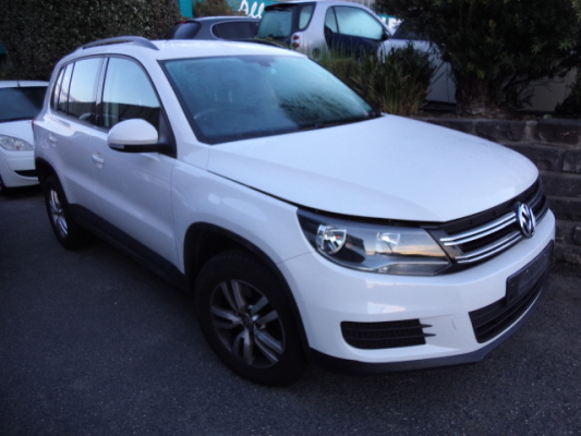 2012 VOLKSWAGEN TIGUAN 5NC MY13 118 TSI (4X2) 6 SP MANUAL 1.4L S/C & T/C MPFI BAR REAR COMPLETE