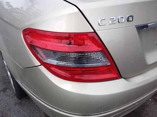 2009 MERCEDES-BENZ C200 W204 5 SP AUTOMATIC TIPSHIFT 1.8L SUPERCHARGED MPFI TAIL LIGHT LEFT