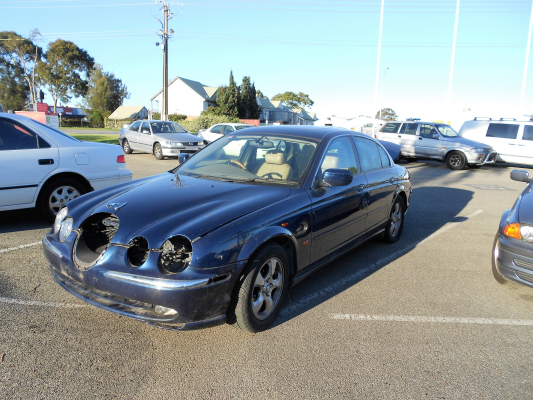2002 JAGUAR S TYPE MY01 V6 5 SP AUTOMATIC 3.0L MULTI POINT F/INJ BAR FRONT COMPLETE