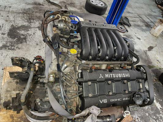 1993 MITSUBISHI 3000 3.0L TWIN TURBO MPFI ENGINE LONG